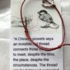 Red Thread Adjustable Bracelet ( Open Heart)